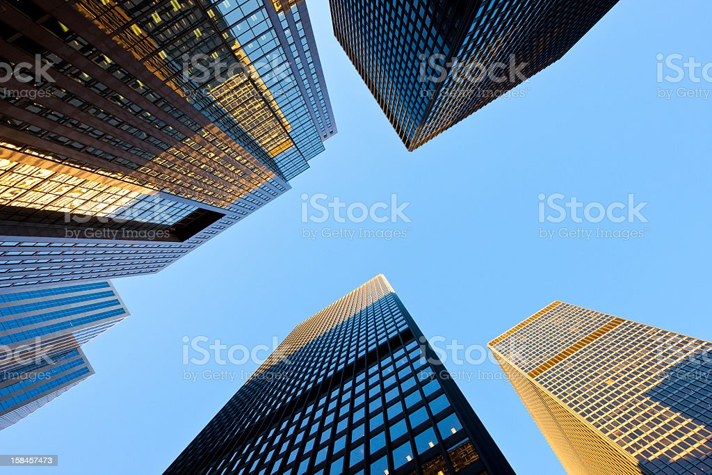 Toronto, Canada, downtown skyscraper royalty-free stock photo