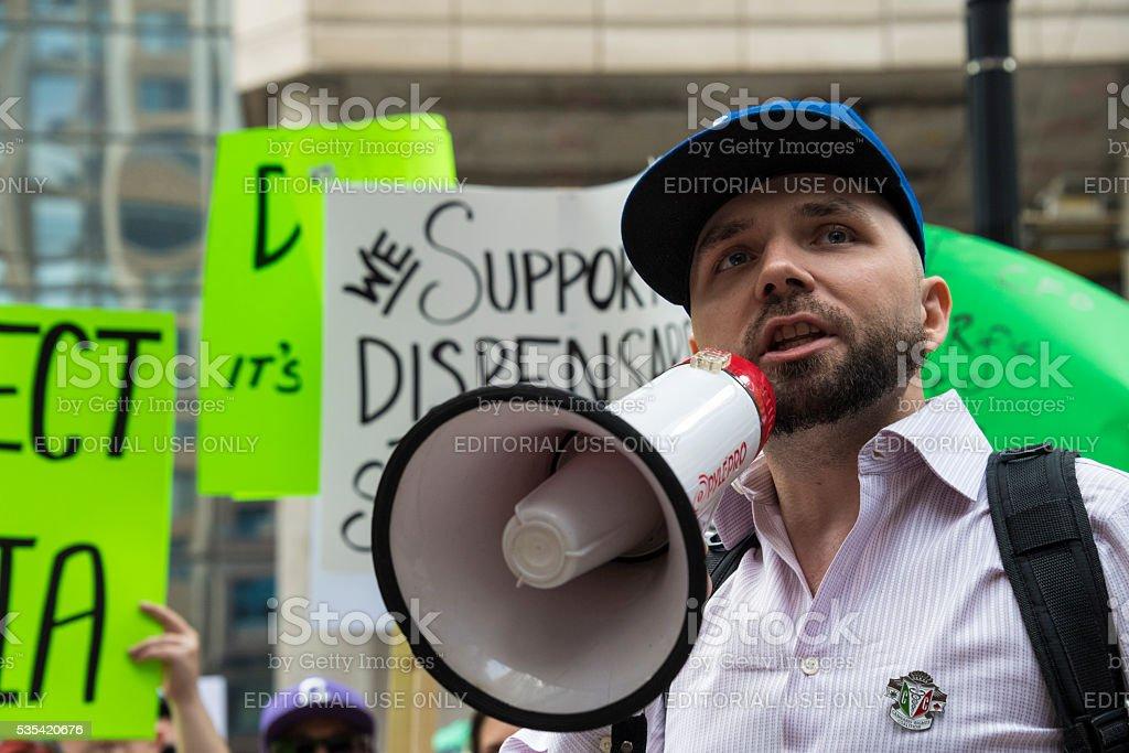 Toronto Canada: Marijuana Activists Protest Project Claudia stock photo