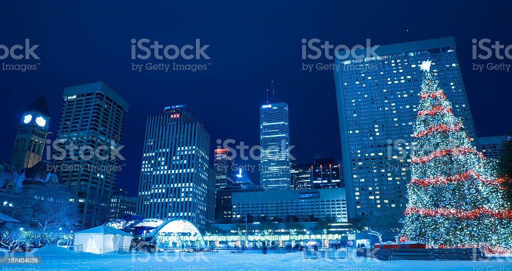 Toronto, Canada, Nathan Phillips Square during Winter royalty-free stock photo