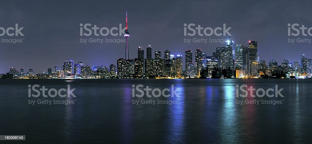 Toronto city at night stock photo