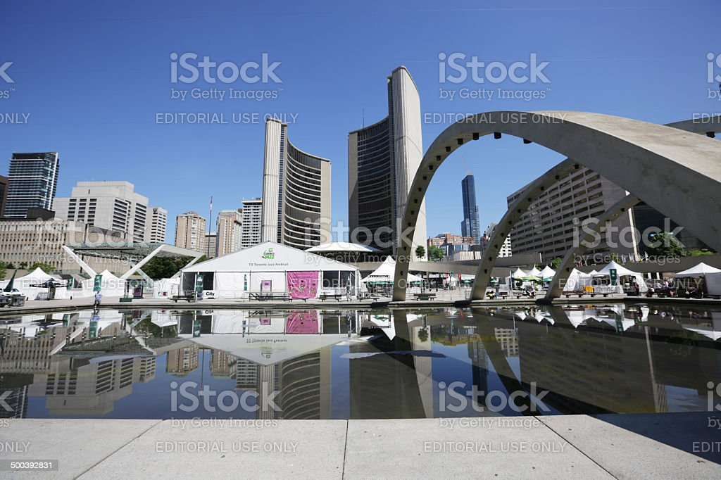 Toronto City Hall and Music Festival in Summer stock photo