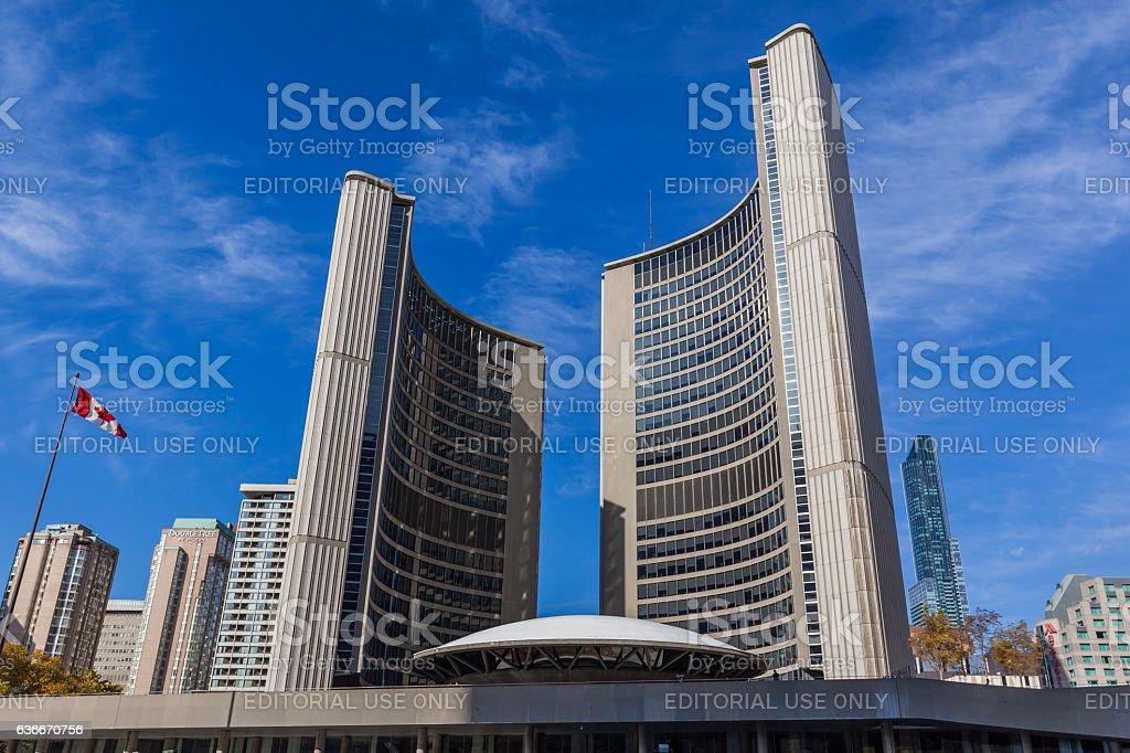 Toronto City Hall stock photo
