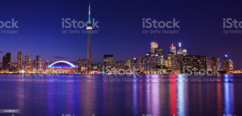 Toronto city light royalty-free stock photo