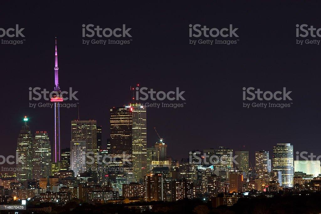 Toronto city lights royalty-free stock photo