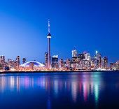 Toronto City Skyline at Night Canada