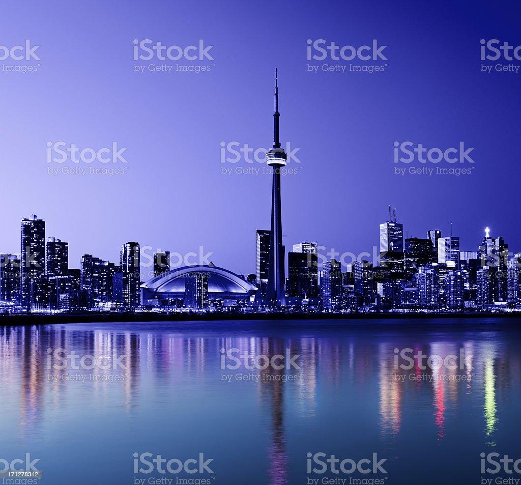 Toronto City Skyline in Canada royalty-free stock photo