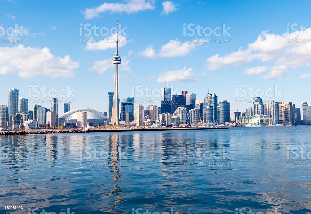 Toronto City Skyline in Canada stock photo