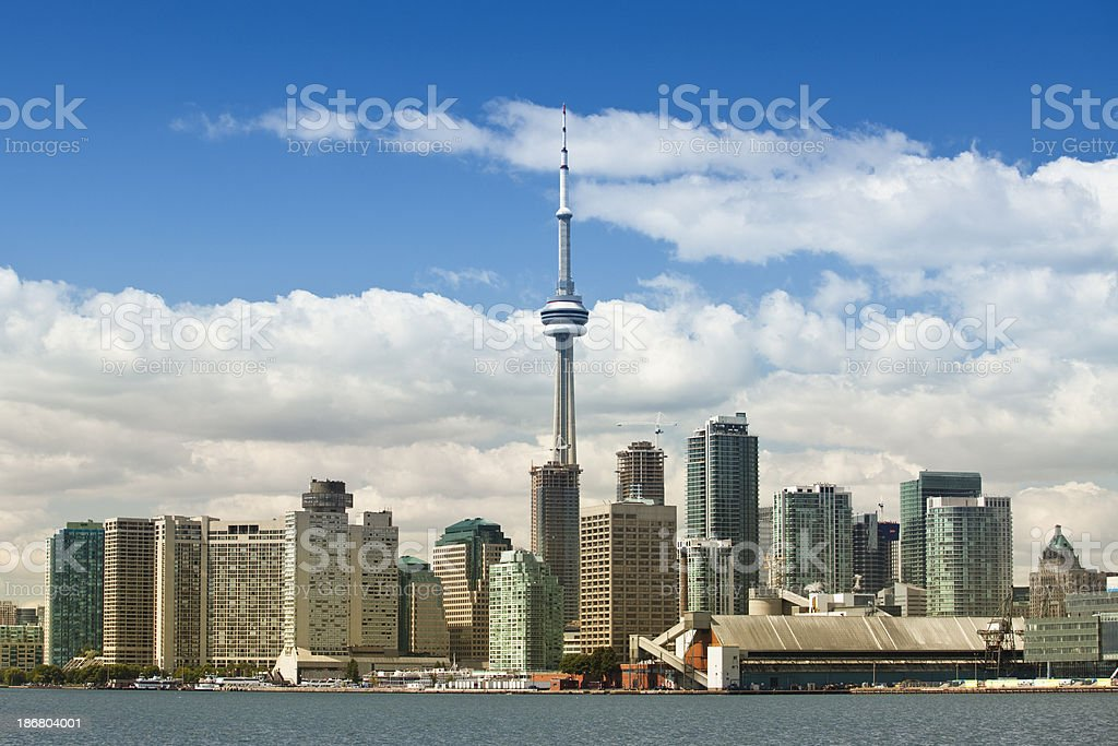 Toronto city skyline stock photo