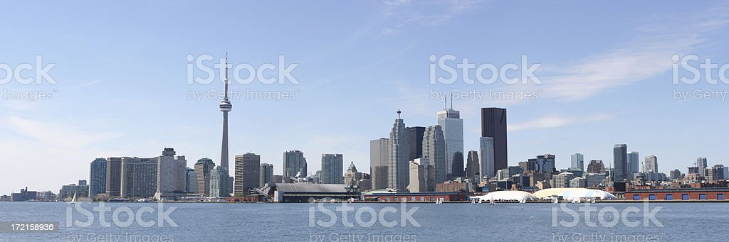Toronto City Summer Panorama stock photo