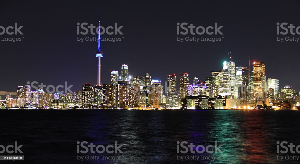 Toronto city waterfront skyline stock photo