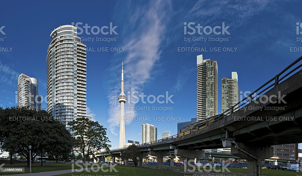 Toronto CN Tower high rise cityscape panorama royalty-free stock photo