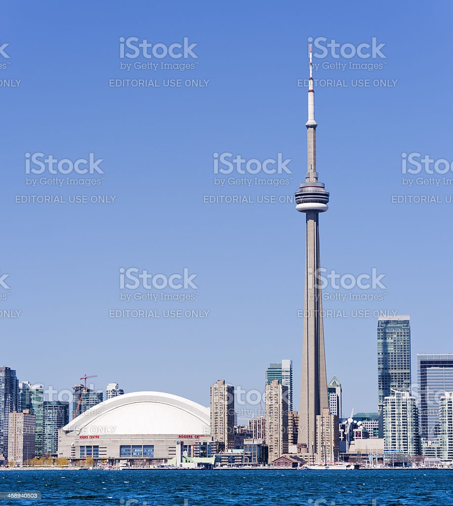 Toronto CN Tower in Canada royalty-free stock photo