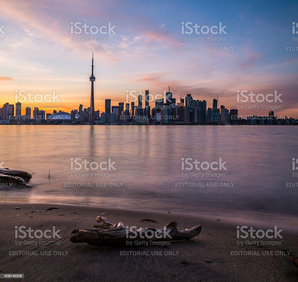 Toronto Colorful Sunset stock photo