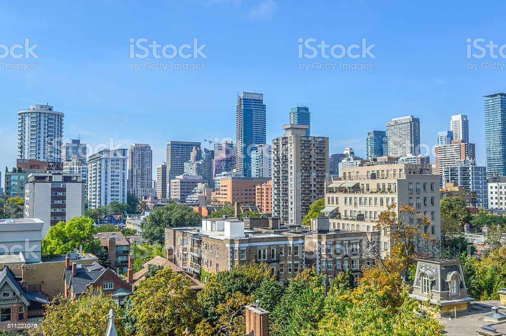 Toronto condo buildings stock photo