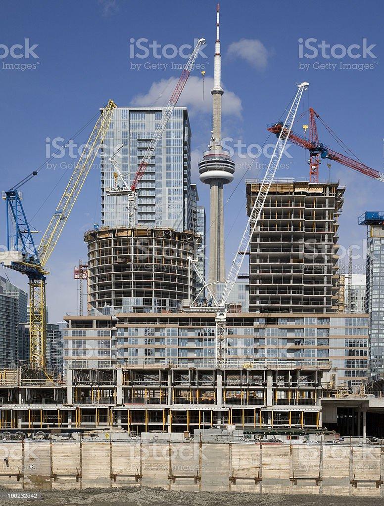 Toronto Condo Construction royalty-free stock photo