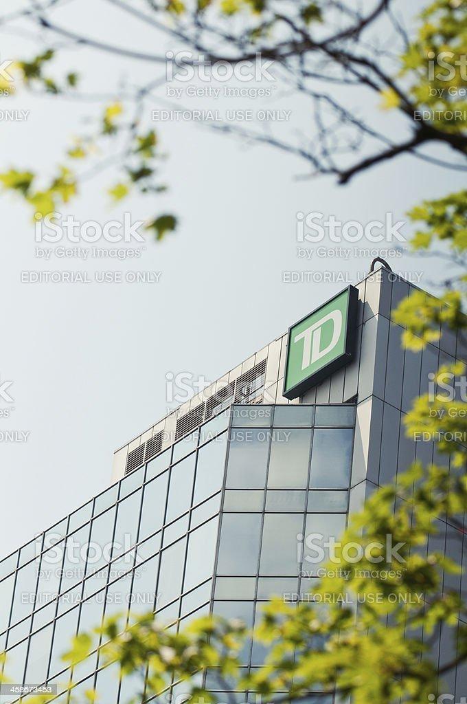 Toronto Dominion Bank stock photo