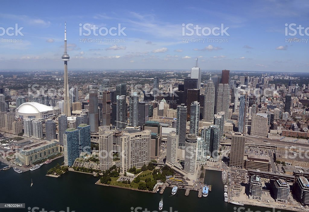 Toronto Downtown, Aerial view royalty-free stock photo