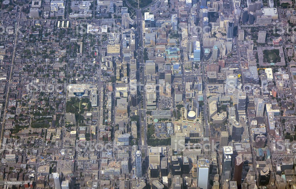 Toronto downtown, Aerial view stock photo