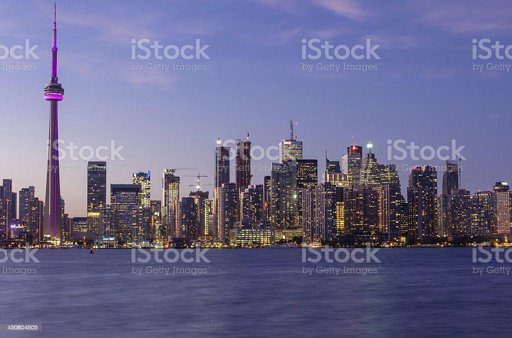 Toronto downtown cityscape royalty-free stock photo