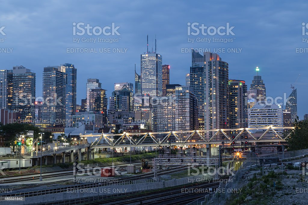 Toronto Downtown During the Blue Hour stock photo