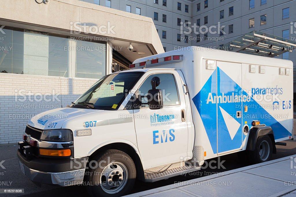 Toronto Emergency Ambulance stock photo