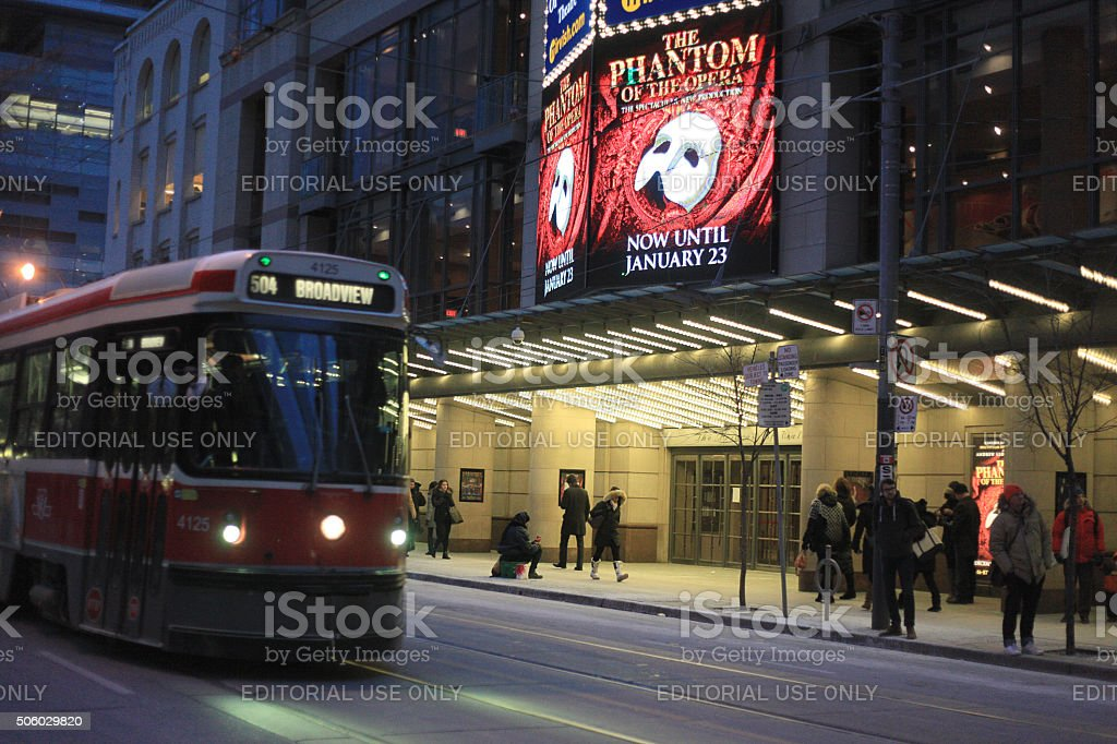 Toronto entetainment district stock photo