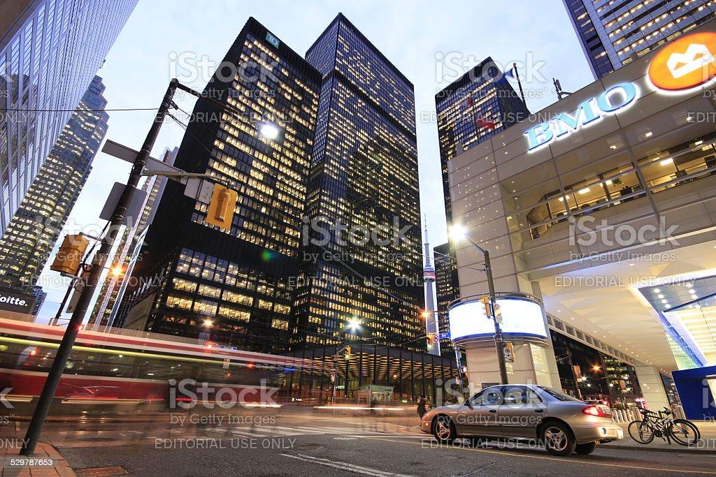Toronto Financial District stock photo