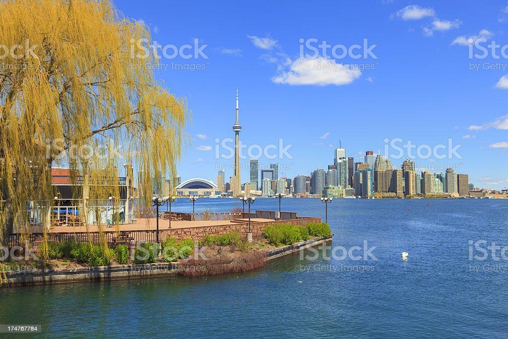 Toronto from Centre Island royalty-free stock photo