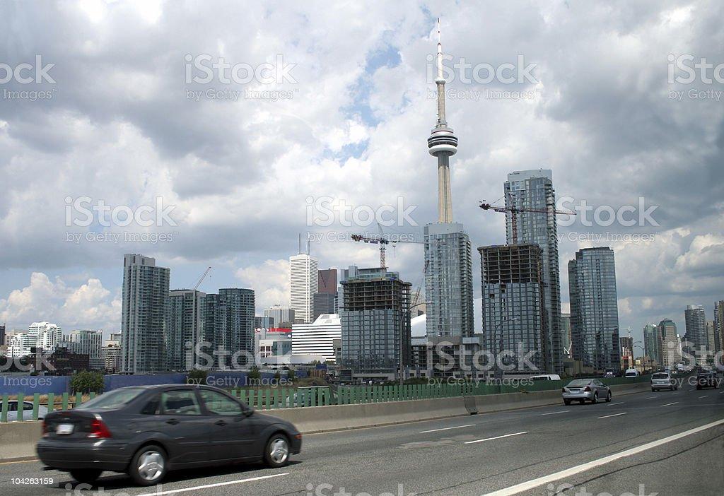 Toronto from the Gardiner royalty-free stock photo