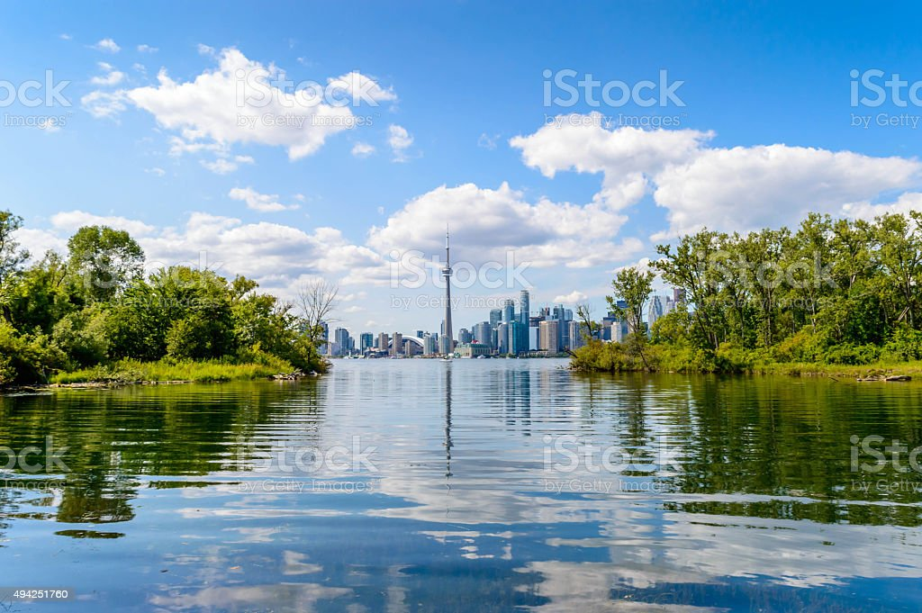 Toronto from the islands stock photo