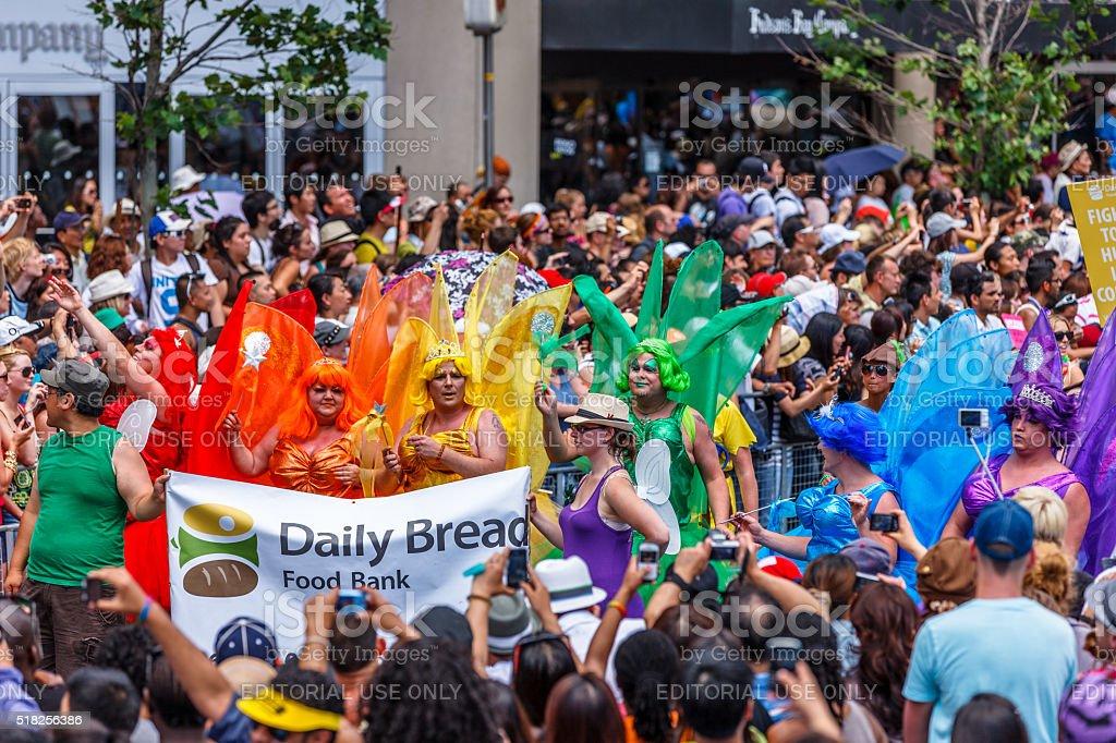 Toronto Gay Pride Parade participants in drag stock photo