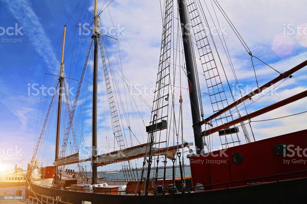 Toronto harbor cruise stock photo
