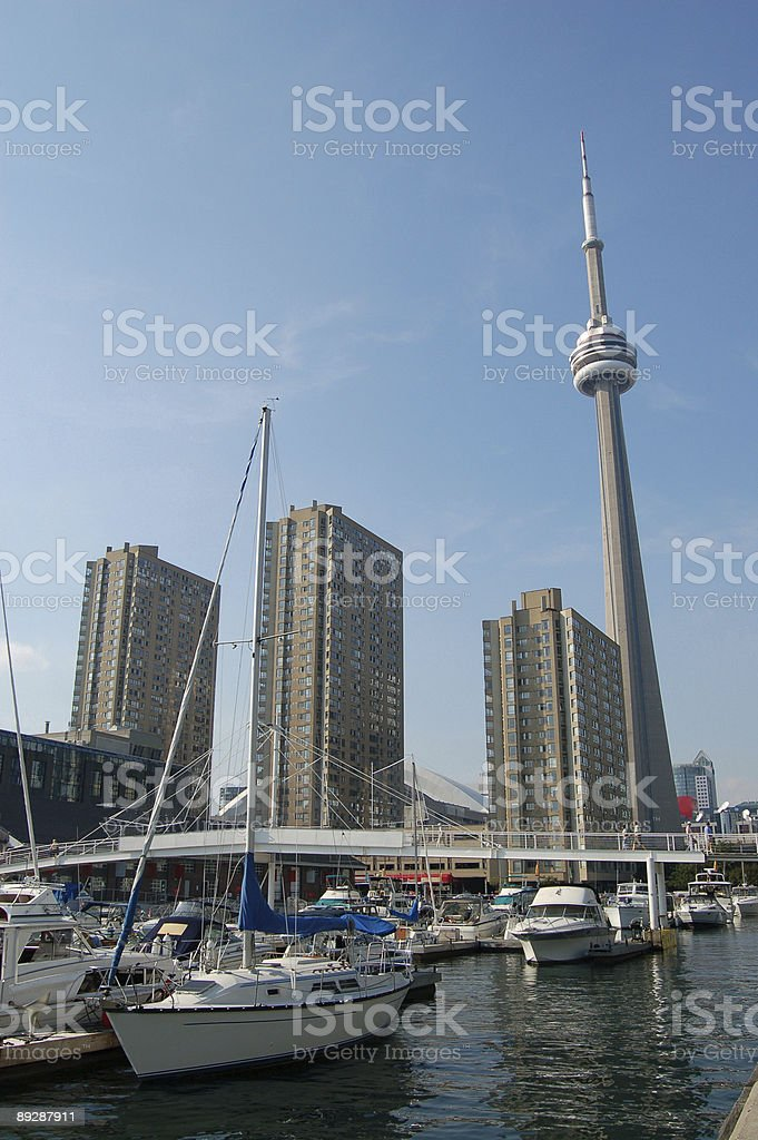 Toronto harbour view royalty-free stock photo