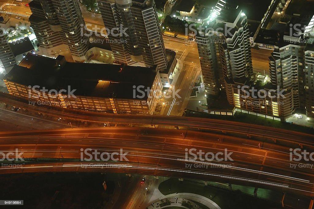 Toronto highway royalty-free stock photo