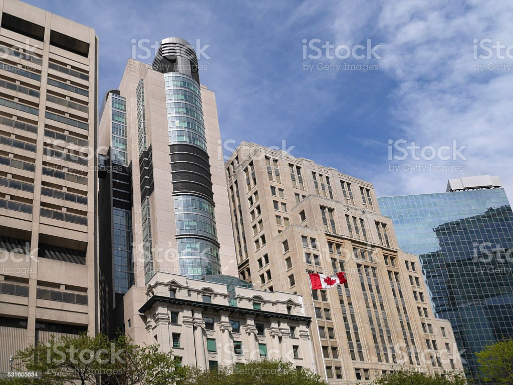 Toronto Hospital Row stock photo