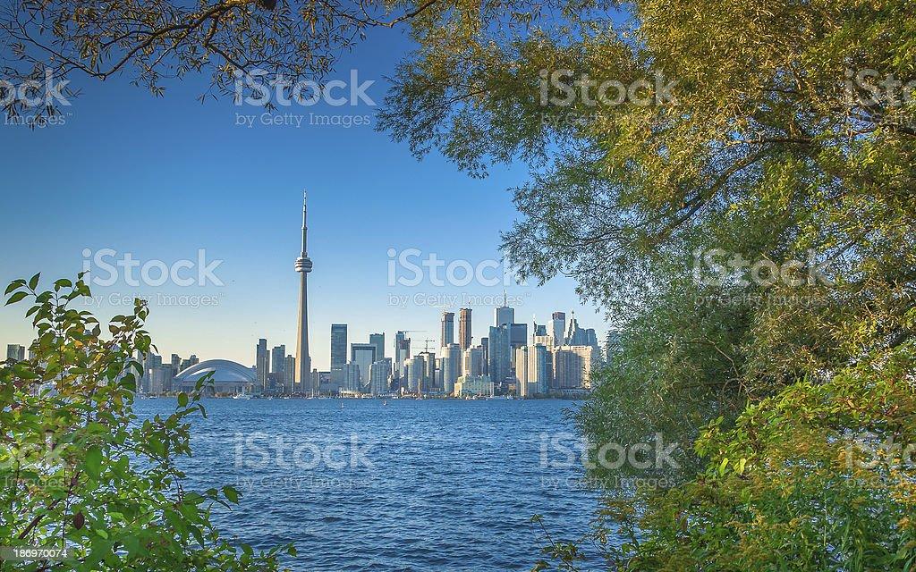 Toronto in early autumn stock photo