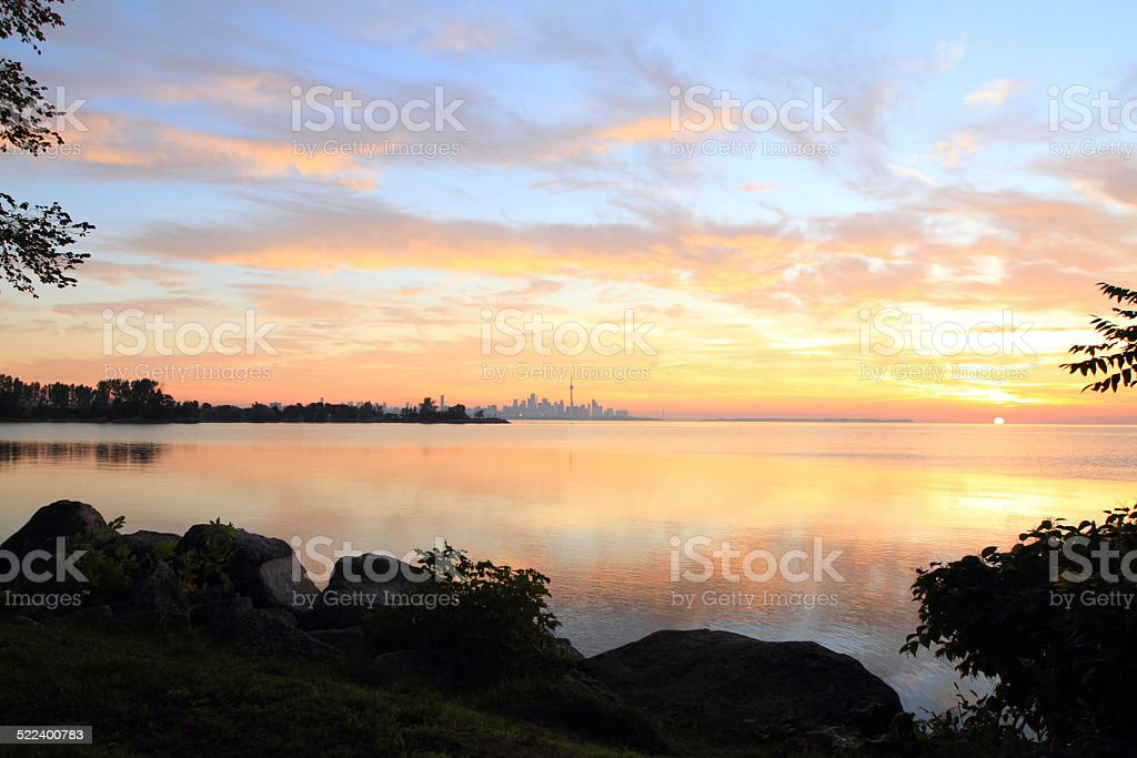 Toronto in the morning stock photo