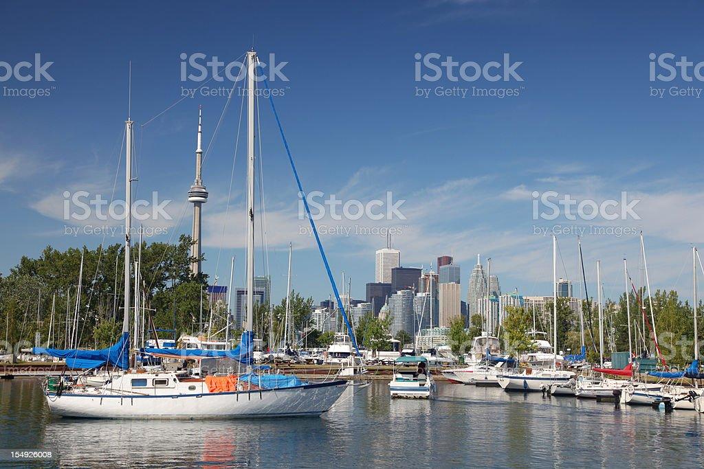Toronto Island Marina stock photo