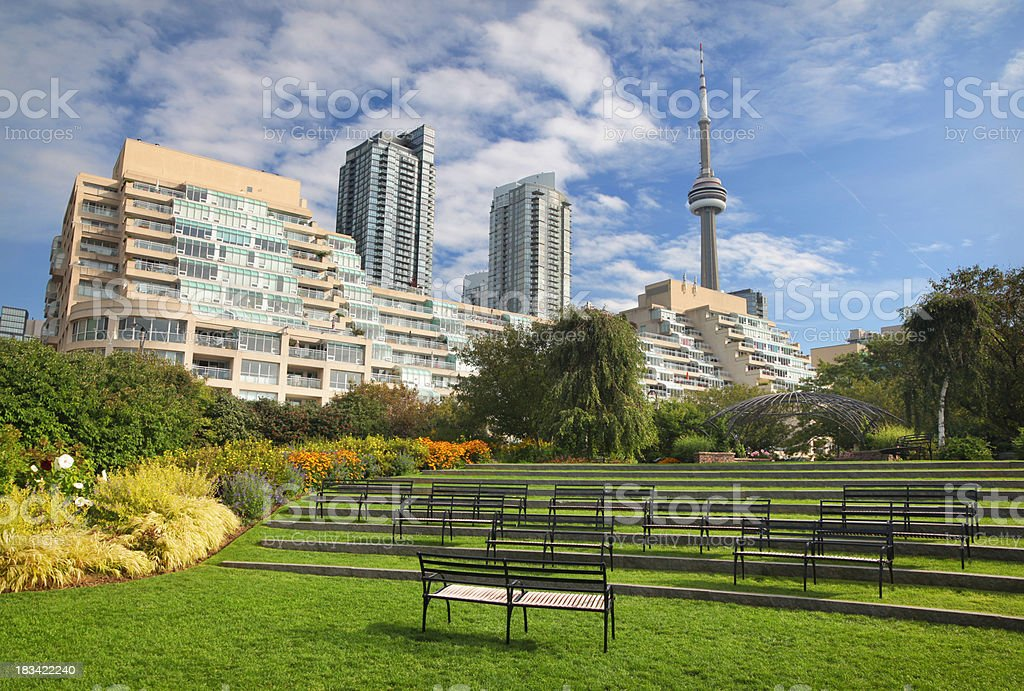 Toronto Music Garden stock photo