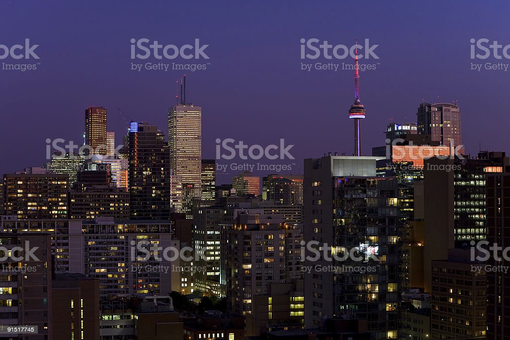 Toronto night royalty-free stock photo