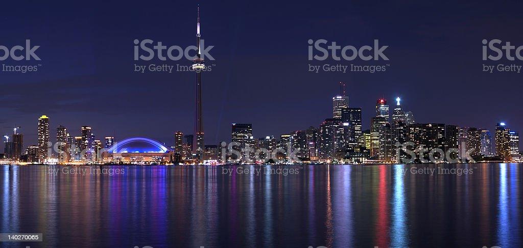 toronto night view panorama royalty-free stock photo