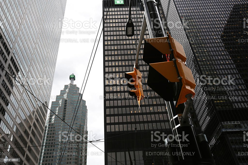 Toronto Office Towers, King Street and Bay Street, Financial District stock photo