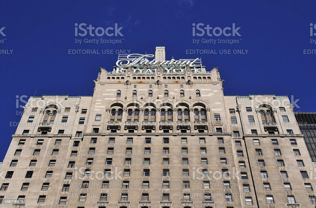 Toronto, Ontario, Canada: Fairmont Royal York hotel stock photo