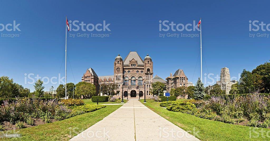 Toronto Ontario Legislative Building Queens Park panorama Canada royalty-free stock photo