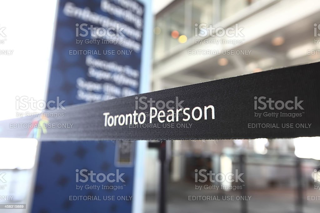 Toronto Pearson Airport YYZ Tape Barrier stock photo
