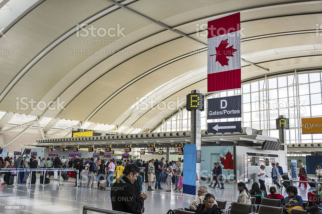 Toronto Pearson International Airport stock photo