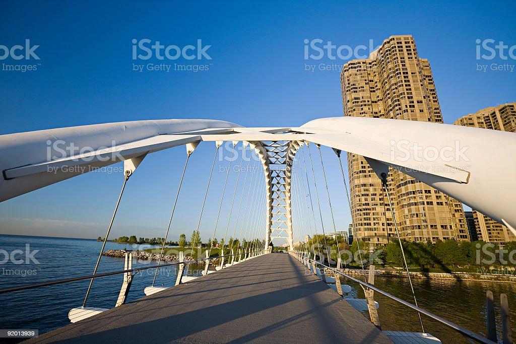 Toronto Pedestrain Shore Park Trail Bridge royalty-free stock photo