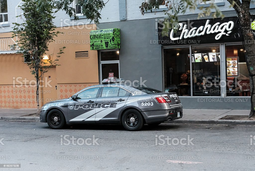 Toronto Police Department Vehicle Parked Up stock photo