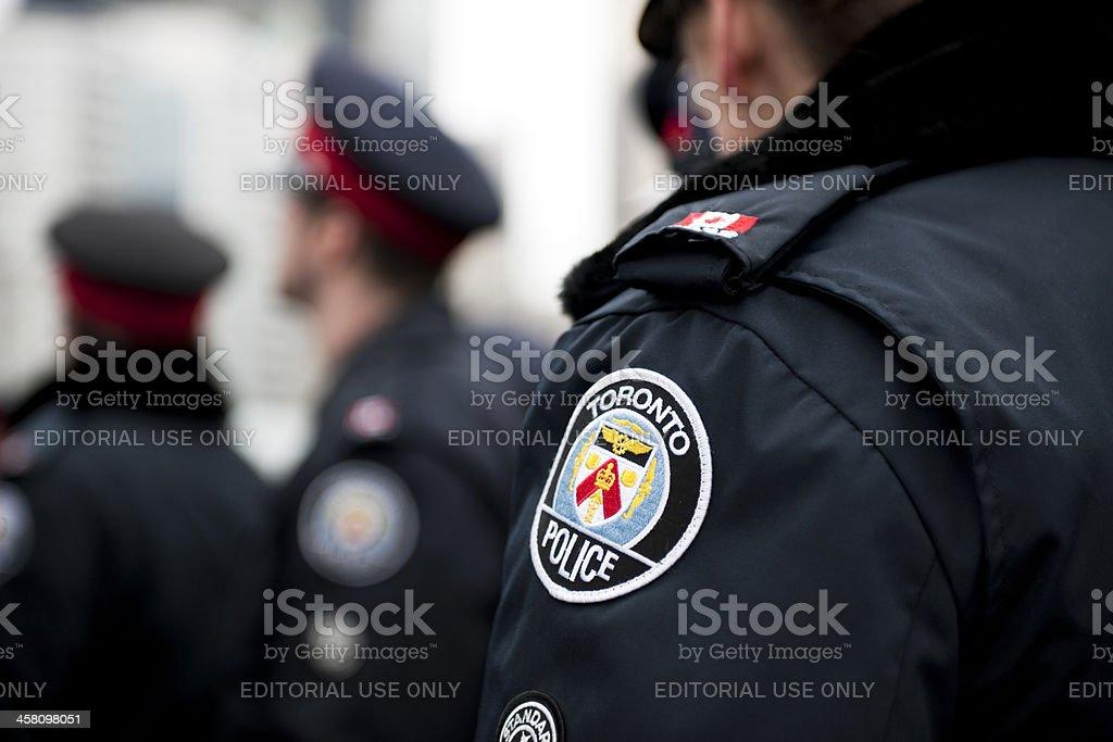 Toronto Police Emblem stock photo