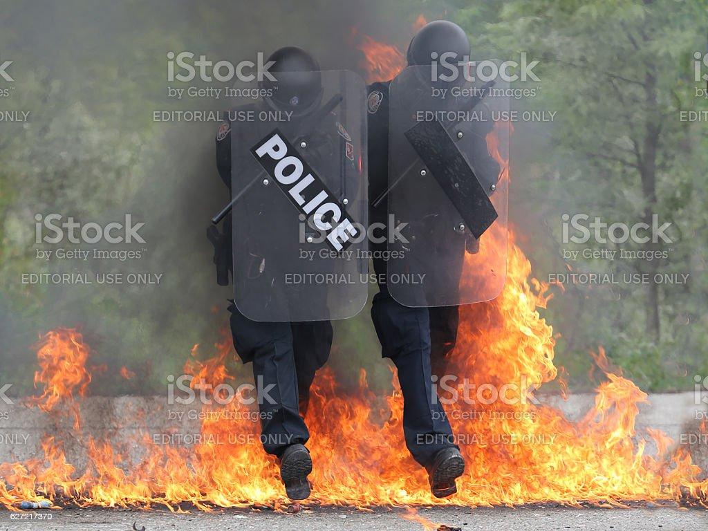 Toronto police training stock photo